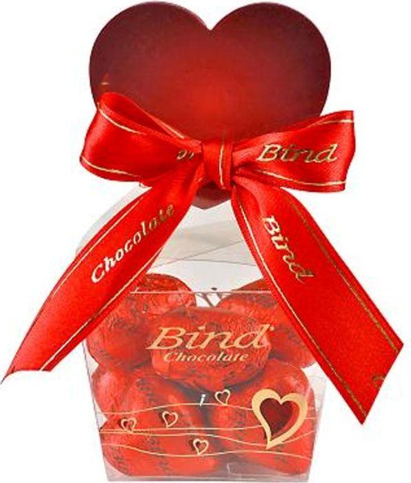 Bind Сердца набор шоколадных конфет, 120 г bind фреш набор шоколадных конфет из темного шоколада с мастикой 120 г