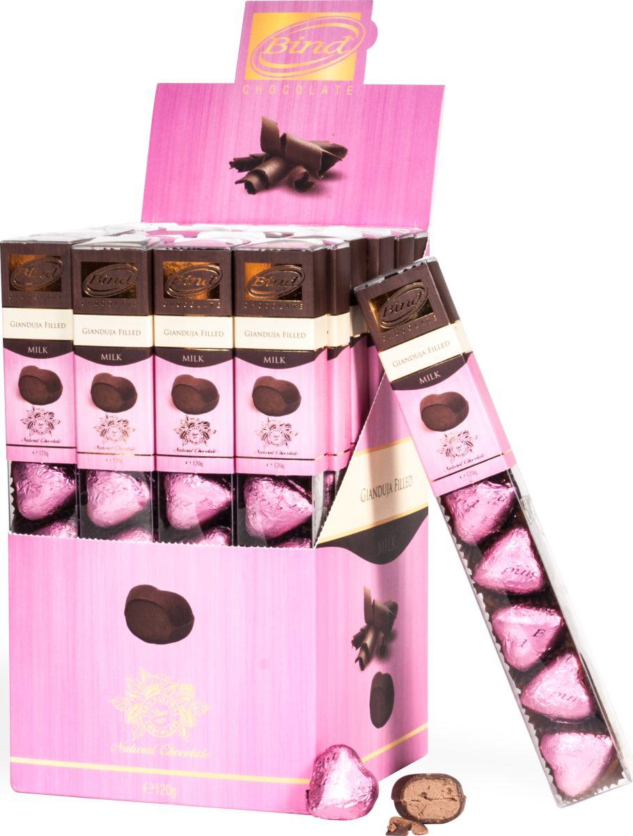 Bind Розовые шоколадные сердца, 120 г sweeterella сладкое настроение шоколадные конфеты 125 г