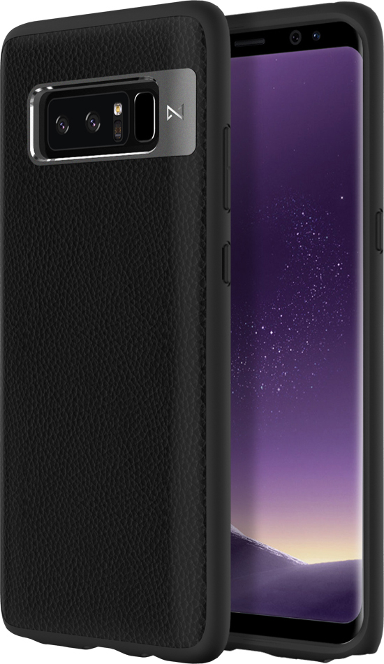 Matchnine Tailor чехол для Samsung Galaxy Note 8, BlackENV010Чехол Matchnine Tailor - стильный аксессуар, обеспечивающий надежную защиту Samsung Galaxy Note 8 от ударов и других воздействий. Его задняя панель изготовлена из жесткого поликарбоната, стилизованного под кожу, а бампер - из эластичного полиуретана. Кроме того, он украшен металлической накладкой, обрамляющей камеру.Мягкая рамка позволяет быстро надевать клип-кейс. Она слегка выступает над экраном, защищая его от контактов с твердыми поверхностями.Несмотря на отличные защитные свойства, чехол практически не увеличивает размеры устройства. С ним мобильный девайс можно носить в кармане или в специальном отделении сумки. Вырезы в клип-кейсе предоставляют доступ к важнейшим деталям смартфона, включая камеры, кнопки и разъемы.