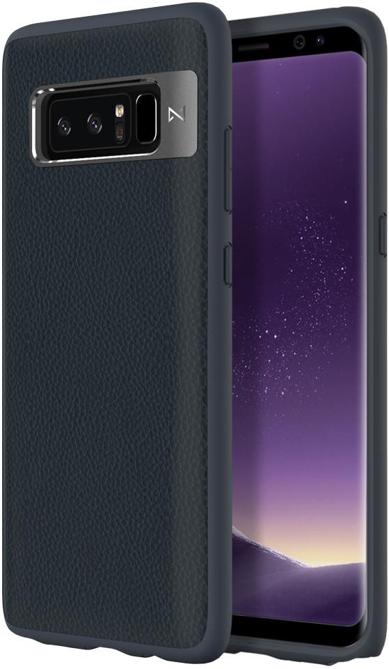 Matchnine Tailor чехол для Samsung Galaxy Note 8, Dark BlueENV011Чехол Matchnine Tailor - стильный аксессуар, обеспечивающий надежную защиту Samsung Galaxy Note 8 от ударов и других воздействий. Его задняя панель изготовлена из жесткого поликарбоната, стилизованного под кожу, а бампер - из эластичного полиуретана. Кроме того, он украшен металлической накладкой, обрамляющей камеру.Мягкая рамка позволяет быстро надевать клип-кейс. Она слегка выступает над экраном, защищая его от контактов с твердыми поверхностями.Несмотря на отличные защитные свойства, чехол практически не увеличивает размеры устройства. С ним мобильный девайс можно носить в кармане или в специальном отделении сумки. Вырезы в клип-кейсе предоставляют доступ к важнейшим деталям смартфона, включая камеры, кнопки и разъемы.