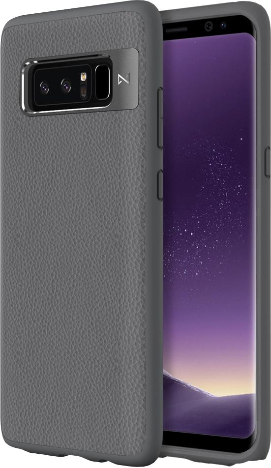 Matchnine Tailor чехол для Samsung Galaxy Note 8, Middle GrayENV012Чехол Matchnine Tailor - стильный аксессуар, обеспечивающий надежную защиту Samsung Galaxy Note 8 от ударов и других воздействий. Его задняя панель изготовлена из жесткого поликарбоната, стилизованного под кожу, а бампер - из эластичного полиуретана. Кроме того, он украшен металлической накладкой, обрамляющей камеру.Мягкая рамка позволяет быстро надевать клип-кейс. Она слегка выступает над экраном, защищая его от контактов с твердыми поверхностями.Несмотря на отличные защитные свойства, чехол практически не увеличивает размеры устройства. С ним мобильный девайс можно носить в кармане или в специальном отделении сумки. Вырезы в клип-кейсе предоставляют доступ к важнейшим деталям смартфона, включая камеры, кнопки и разъемы.