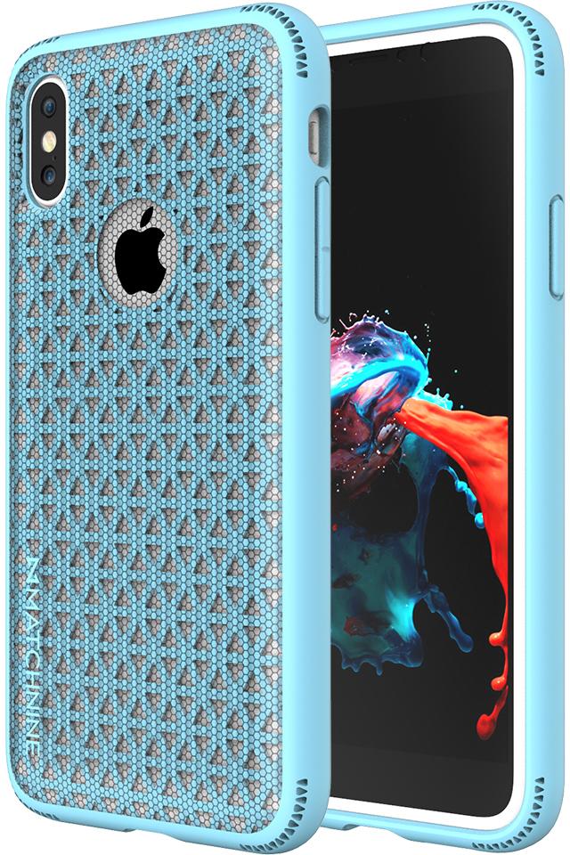 Matchnine Skel чехол для iPhone X, Light BlueENV026Чехол-накладка Matchnine Skel для Apple iPhone X обеспечивает надежную защиту корпуса смартфона от механических повреждений и надолго сохраняет его привлекательный внешний вид. Накладка выполнена из высококачественного поликарбоната, плотно прилегает и не скользит в руках.