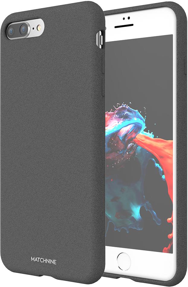 Matchnine Jello Pebble чехол для iPhone 7 Plus/8 Plus, Dark GrayENV049Matchnine Jello Pebble состоит из эластичного полиуретана и жесткого пластика. Такая конструкция позволяет защитить iPhone 7 Plus/8 Plus от ударов и других воздействий, сохранив его превосходный внешний вид. Мягкая рамка помогает быстро надевать клип-кейс. Кроме того, она слегка выступает над экраном, не допуская его соприкосновения с твердыми поверхностями. Несмотря на отличные защитные свойства, чехол практически не увеличивает размеры устройства. С ним смартфон можно носить в кармане и в специальном отделении сумки. Чехол предоставляет доступ ко всем важным деталям мобильного девайса. В нем предусмотрены вырезы для камер, кнопок и разъемов.