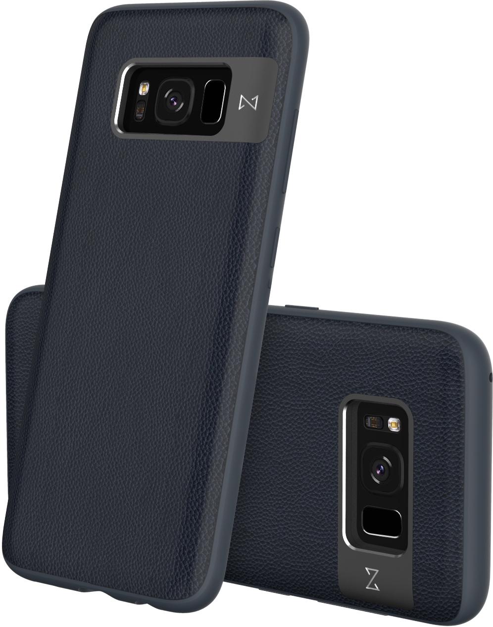 Matchnine Tailor чехол для Samsung Galaxy S8 Plus, Dark BlueENV056Чехол Matchnine Tailor - стильный аксессуар, обеспечивающий надежную защиту Samsung Galaxy S8 Plus от ударов и других воздействий. Его задняя панель изготовлена из жесткого поликарбоната, стилизованного под кожу, а бампер - из эластичного полиуретана. Кроме того, он украшен металлической накладкой, обрамляющей камеру.Мягкая рамка позволяет быстро надевать клип-кейс. Она слегка выступает над экраном, защищая его от контактов с твердыми поверхностями.Несмотря на отличные защитные свойства, чехол практически не увеличивает размеры устройства. С ним мобильный девайс можно носить в кармане или в специальном отделении сумки. Вырезы в клип-кейсе предоставляют доступ к важнейшим деталям смартфона, включая камеры, кнопки и разъемы.