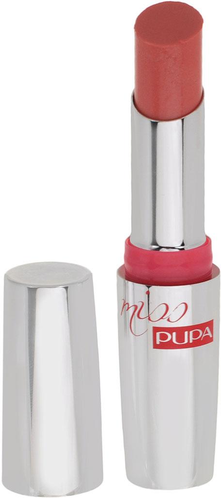 PUPA Губная помада Miss Pupa, оттенок №401 Коралловая мечта, 2,4 мл00245401Miss Pupa - ультрасияющая прозрачная помада. Ультрамодная новинка для изысканных дам. Помада с гелеобразной текстурой легко наносится, придает объем и оставляет губы мягкими, чувственными и соблазнительными. Очаровательный сияющий макияж вам обеспечен. Помада мягко ложится прозрачным слоем и создает необыкновенно чувственный макияж с эффектом мокрых губ, от которых не откажется ни одна женщина. Солнцезащитный фактор 15.Выпускается в 30-ти гламурных оттенках для изысканных женщин. Без парабенов.Товар сертифицирован.