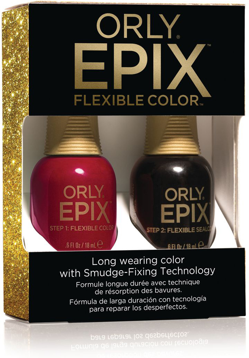 Orly Набор для создания 2-х фазного эластичного покрытия EPIX Flexible Color Launch Kit - Premiere Party orly epix flexible sealcoat топ 18 мл