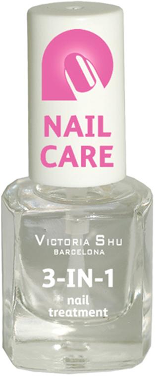 Victoria Shu Быстросохнущее универсальное средство для ногтей 3 IN 1, 6 мл victoria shu лак для ногтей extreme colour 266