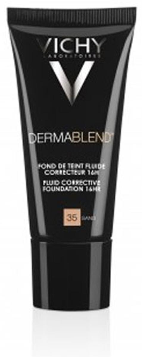 Vichy Крем тональный корректирующий Dermablend тон № 35, 30 млZ2603Флюид с самой высокой концентрацией маскирующего пигмента обладает стойким 16-часовым эффектом. Флюид подойдет для маскировки любых дефектов на коже, таких как: постакне, гиперпигментация, шрамы, пятна. Флюид подойдет для создания безупречного вечернего макияжа.Легкая нежирная текстура крема легко распределяется по коже, сливаясь с ее тоном. Не создает ощущения маски.