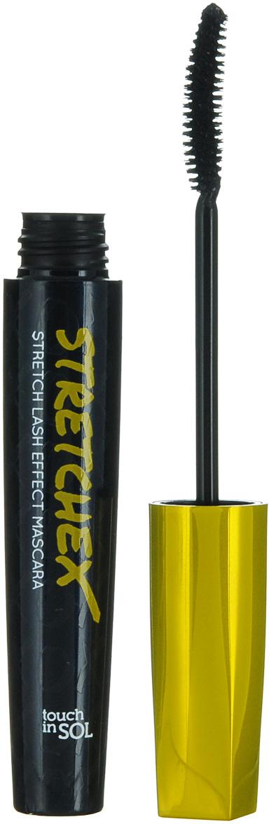 Touch in SOL Тушь с эффектом удлинения ресниц Stretchex Stretch Lash Effect, 7 гУТ000001335Отличная эластично-вязкая формула создает эффект натуральных длинных ресниц. Тушь легко распределяется по всей длине ресниц. Использование эластичного полимера и пудры из растительного волокна способствуют равномерному нанесению туши, фиксируя форму ресниц. Супер стойкая формула. Плотное покрытие полимерной пудры обволакивает ресницы, что придает взгляду выразительность, удлиняя и подкручивая ресницы. Эластично-вязкая база удлиняет ресницы при помощи специального волокна. Гелиевая текстура не раздражает глаза даже при повторном нанесении. Легкая формула позволяет надолго сохранить ресницы подкрученными. Легко смывается.