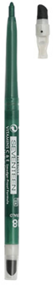 SEVENTEEN Карандаш для век автомат с точилкой+спонж т.02 TWIST LINER Черный, 0,28 грA8195700Очень удобный в использовании: не требует затачивания, механизм карандаша двигается в двух направлениях. На конце карандаша – точилка, позволяющая регулировать толщину стержня, и аппликатор для коррекции и мягкой растушевки карандашной линии.