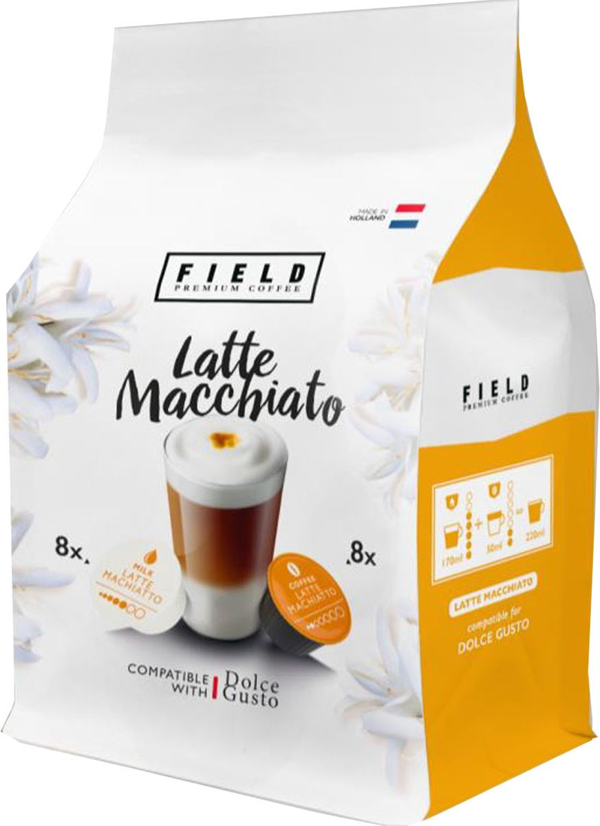 Field Premium Coffee Latte Macchiato кофе в капсулах, 16 шт капсулы tassimo latte macchiato caramel