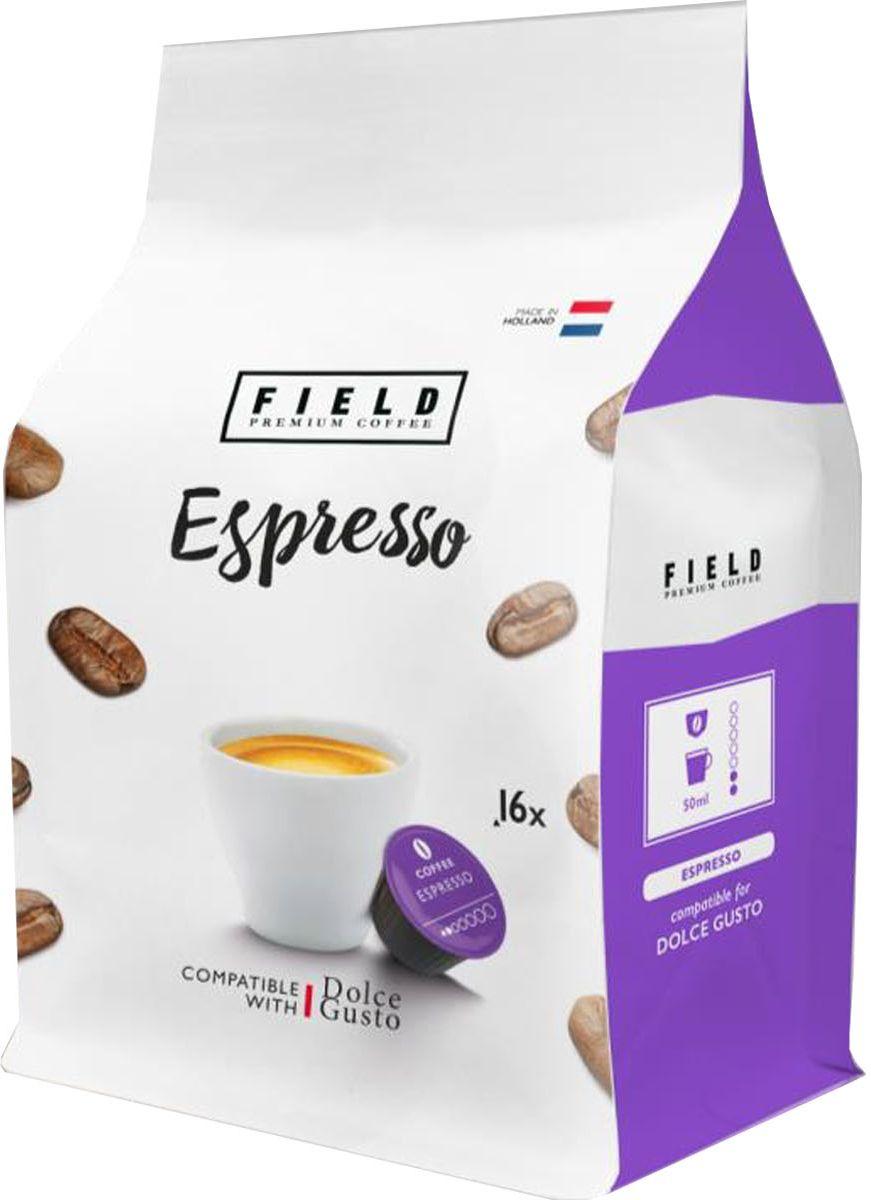 Field Premium CoffeeEspresso кофе в капсулах, 16 шт2017-10113Сочетая лучшие бобы Арабики, мы создали ароматное и яркое сочетание, дающее шоколадный, крепкий эспрессо. Ингредиенты: 100% арабика.