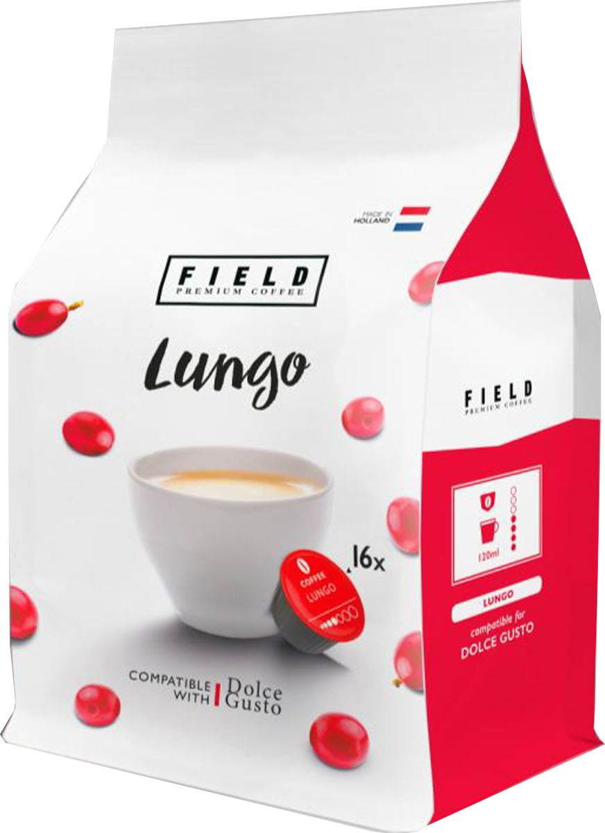 Field Premium Coffee Lungo кофе в капсулах, 16 шт green coffee bean extract 100% pure highest strength 5000mg detox colon cleanse uk premium made products vegetarian capsules one months supply