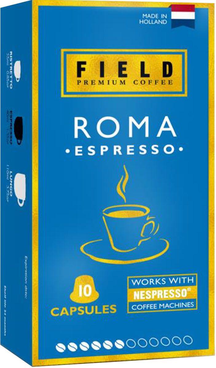 Field Premium Coffee Espresso Roma кофе в капсулах, 10 шт smart coffee club firenze кофе в капсулах 10 штук