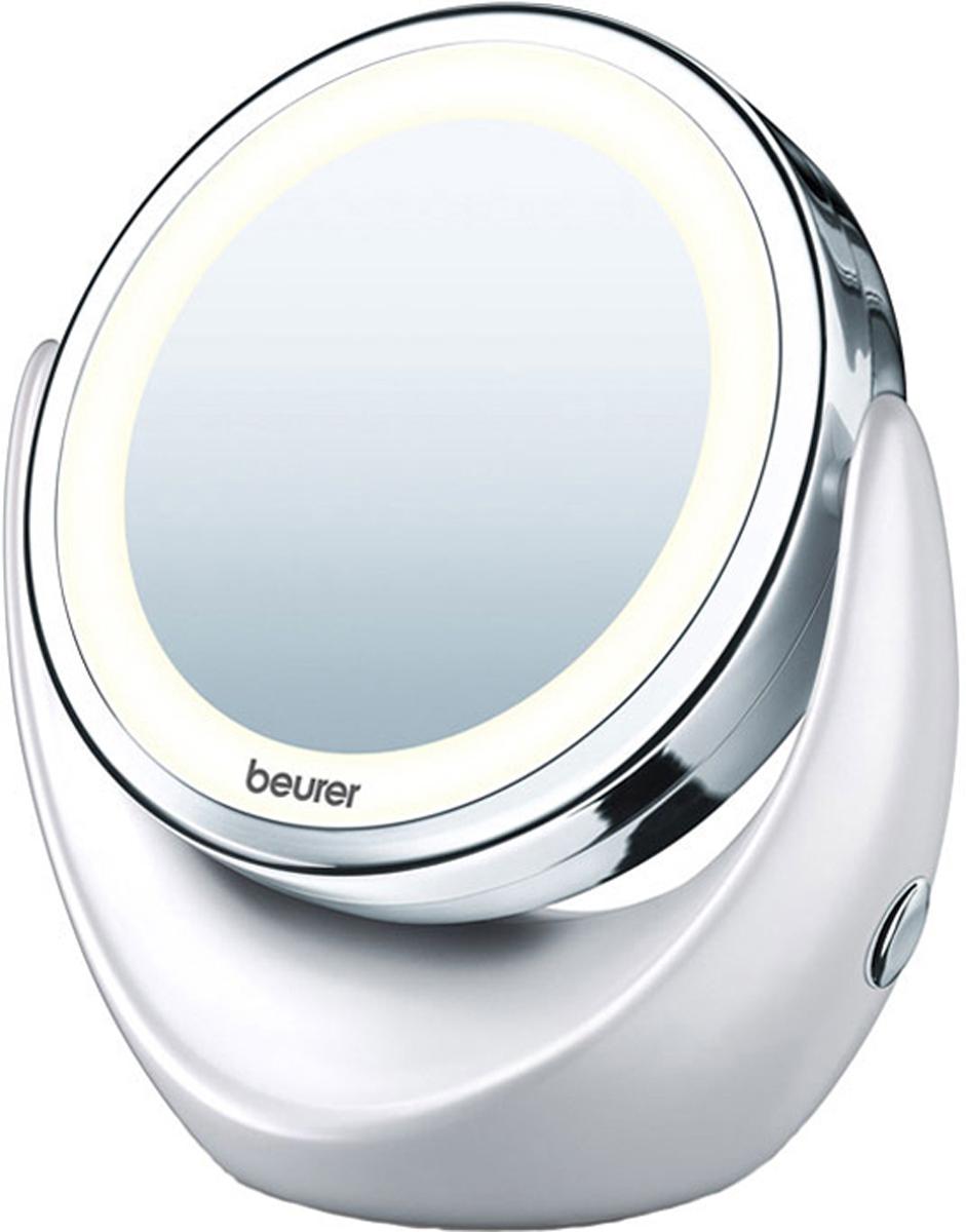 Настольное косметическое зеркало Beurer BS491092031;1092031Зеркало Beurer BS49 косметическое двухстороннее, с мягкой подсветкой. Имеет обычную и увеличивающую в 5 раз зеркальную поверхность.