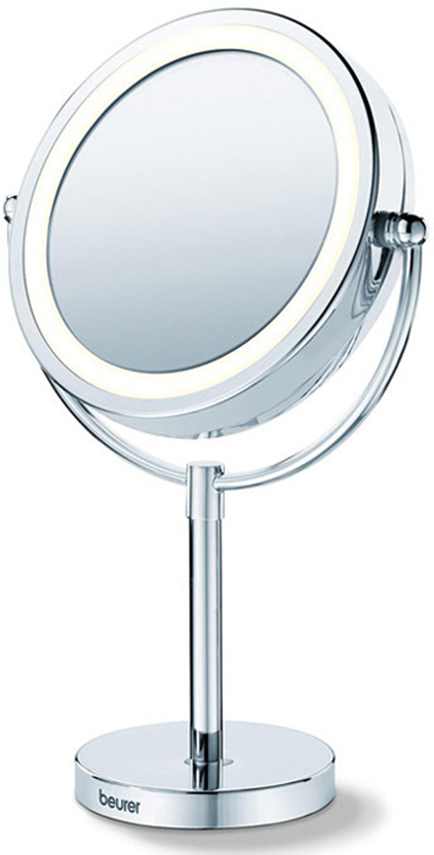 Настольное косметическое зеркало Beurer BS691092033Разработанное специально для проведения косметических процедур и накладывания макияжа зеркало Beurer BS 69 может стать вашим спутником в течение дня. Универсальная форма зеркала впишется в любой интерьер. Пятикратное увеличение и круговая подсветка создают оптимальные условия для создания идеального макияжа. С зеркалом Beurer BS 69 ваша красота не останется не замеченной!Легко поворачиваетсяВысококачественное хромовое покрытие
