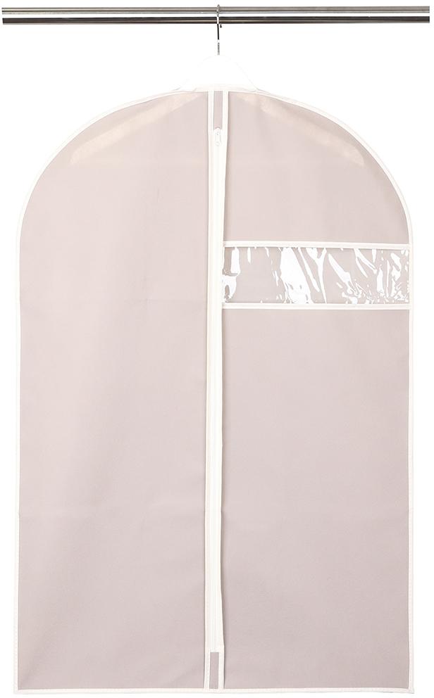 """Чехол для одежды """"Handy Home"""", с окошком, цвет: бежевый, 60 x 90 см"""