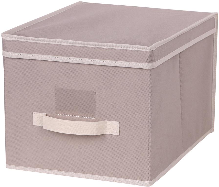 Короб для хранения Handy Home, цвет: бежевый, 30 x 40 x 25 смAH-07Короб прямоугольный складной с крышкой. Занимает минимум места в сложенном виде. Естественная вентиляция: материал позволяет воздуху свободно проникать внутрь, не пропуская пыль. Подходит для хранения одежды, обуви, мелких предметов, документов и многого другого.