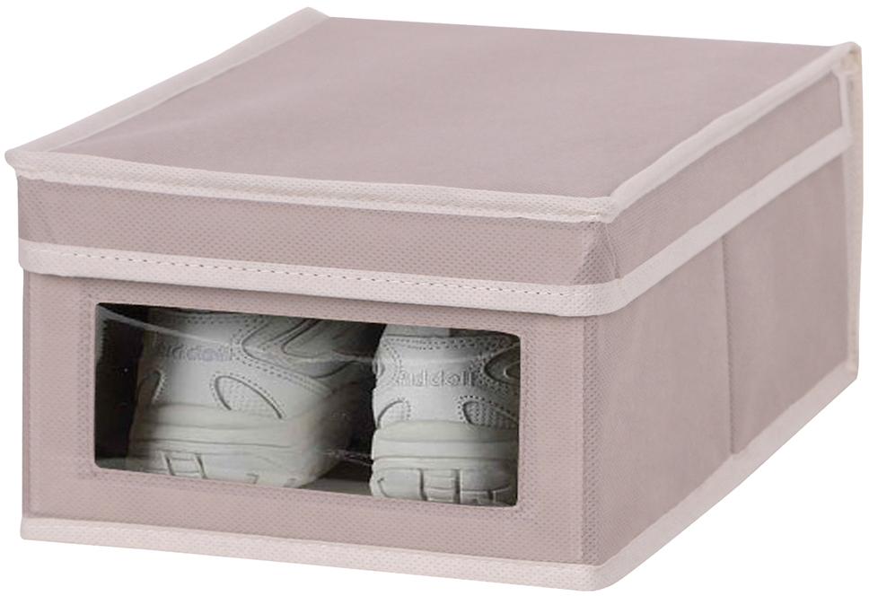 Короб для обуви Handy Home M, цвет: бежевый, 25 x 35 x 16 см