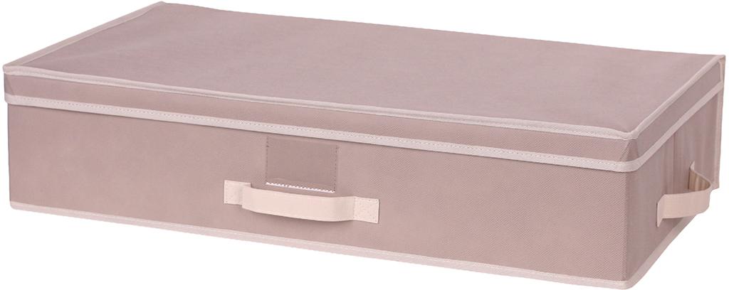 Короб для хранения Handy Home, цвет: бежевый, 70 x 40 x 15 смAH-11Короб прямоугольный складной с крышкой. Занимает минимум места в сложенном виде. Естественная вентиляция: материал позволяет воздуху свободно проникать внутрь, не пропуская пыль. Подходит для хранения одежды, обуви, мелких предметов, документов и многого другого.