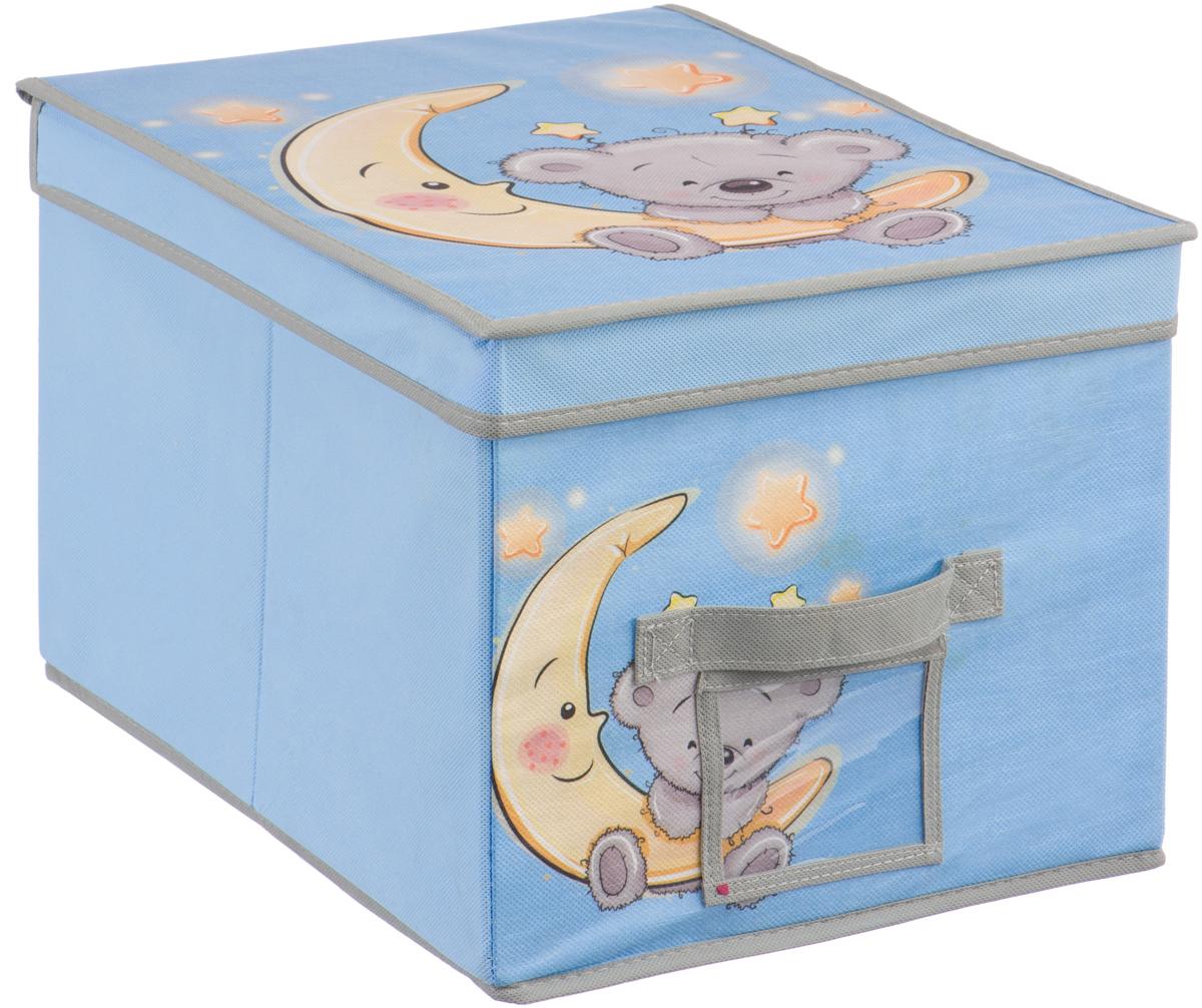 Короб для хранения Handy Home Мишка, цвет: голубой, 30 х 40 х 25 смUC-102Короб прямоугольный складной с крышкой. Занимает минимум места в сложенном виде. Естественная вентиляция: материал позволяет воздуху свободно проникать внутрь, не пропуская пыль. Подходит для хранения одежды, обуви, мелких предметов, игрушек и многого другого. Соберите всю коллекцию и наслаждайтесь аккуратностью и эстетикой своего гардероба.