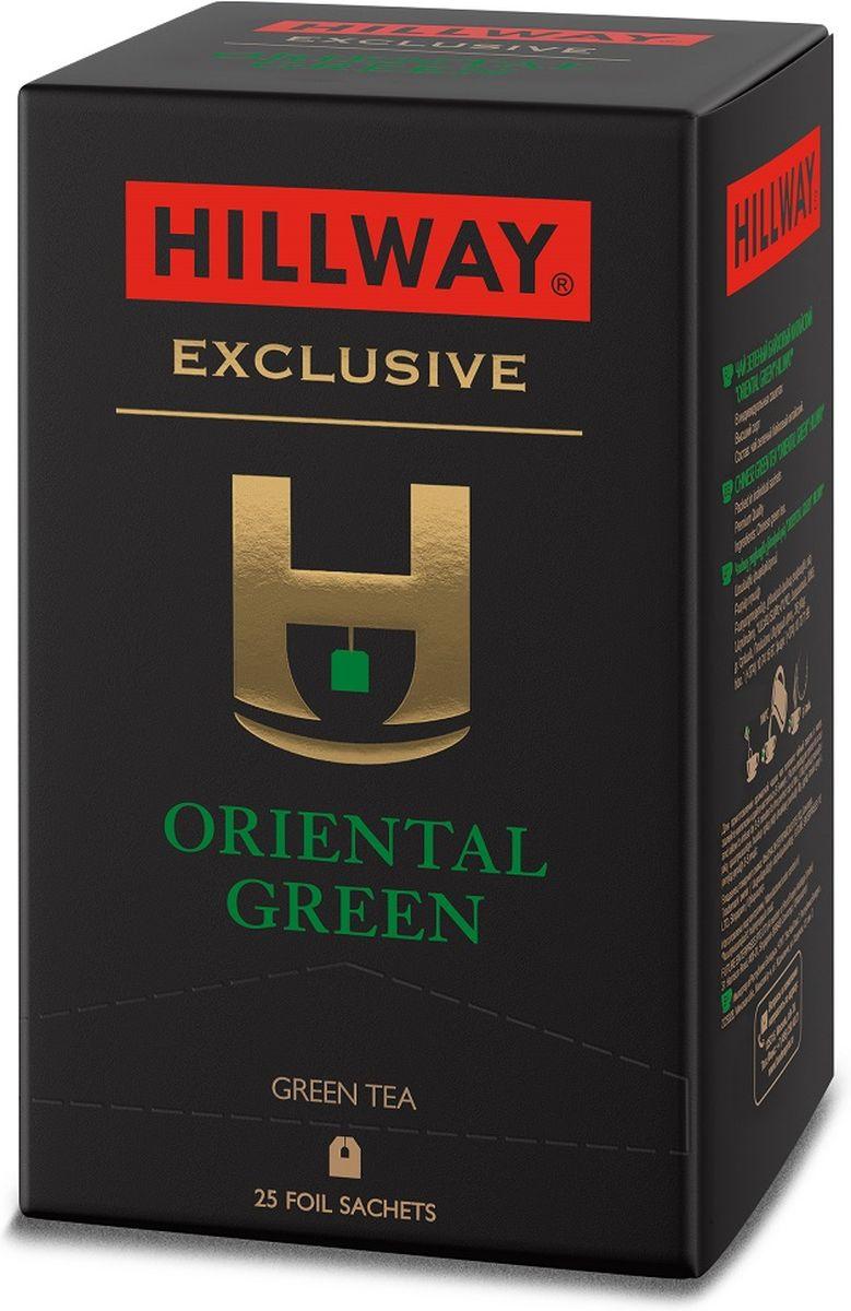 Hillway Oriental Green чай в сашетах, 25 шт8886300990577Зеленый чай Hillway Oriental Green - это свежий и легкий зеленый чай с нежным ароматом, легкой текстурой и тонким, деликатным вкусом.