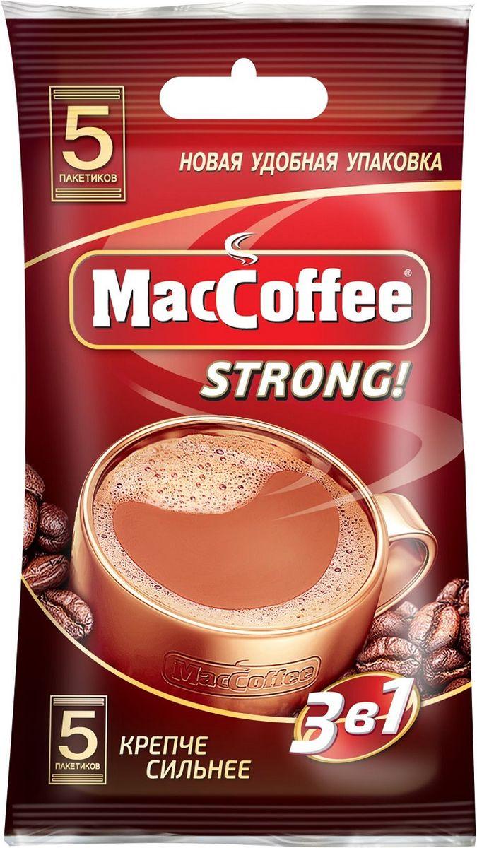 МасСoffee 3 в 1 Strong кофейный напиток, 5 шт