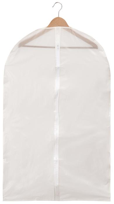 Чехол для одежды Handy Home, цвет: белый, 60 x 100 смUC-12Чехол для хранения и перевозки одежды. Изготовлен из нетканого дышащего материала, который препятствует попаданию пыли, влаги, запахов и грязи, при этом сохраняя вентиляцию так необходимую для бережного хранения одежды. А также создает порядок в шкафу и просто радует глаз.