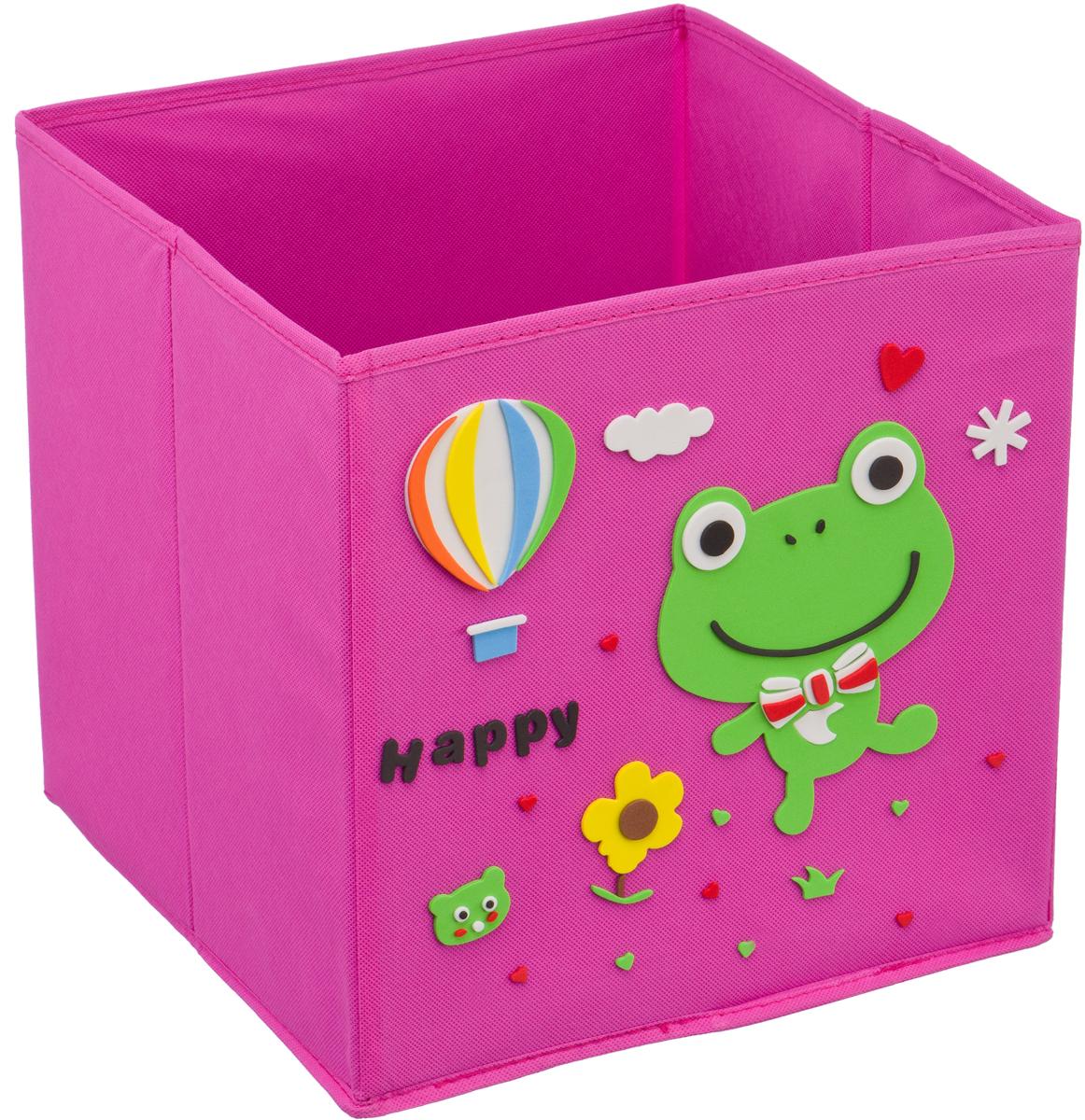 Кофр для хранения Handy Home Лягушонок, с аппликацией, цвет: розовыйUC-120Кофр с аппликацией - универсальная система для домашнего хранения, которая дополняется интересной аппликацией с эксклюзивным и веселым детским дизайном для оформления фронтальной стороны короба. Комплект представляет собой складной короб из нетканого материала и картона, плюс самоклеящаяся аппликация из полимера, которую необходимо самому собрать в картину.Соберите всю увлекательную коллекцию у себя дома.