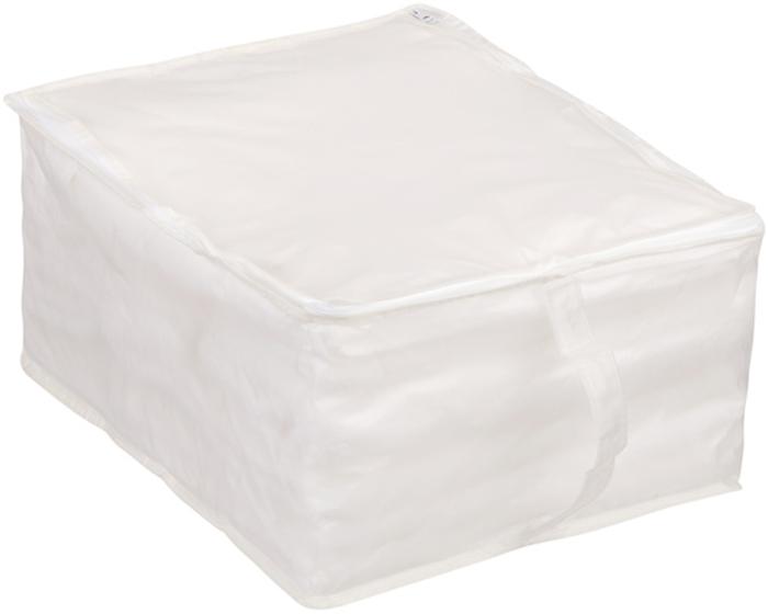 Кофр для хранения Handy Home, цвет: белый, 30 x 40 x 20 смUC-14Кофр для хранения белый полупрозрачный, что позволяет легко просматривать содержимое. В нем удобно хранить одежду, белье и мелкие аксессуары, а также постельные принадлежности. Кофр закрывается на застежку-молнию. Сбоку имеется ручка.