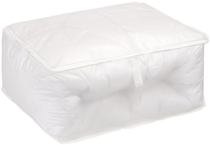 Кофр для хранения Handy Home, цвет: белый, 55 x 45 x 25 смUC-15Кофр для хранения белый полупрозрачный, что позволяет легко просматривать содержимое. В нем удобно хранить одежду, белье и мелкие аксессуары, а также постельные принадлежности. Кофр закрывается на застежку-молнию. Сбоку имеется ручка.