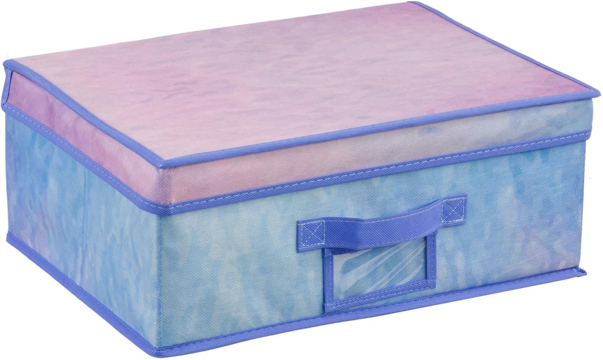 Кофр на липучке Handy Home Акварель, цвет: синий, фиолетовый, 40 х 30 х 16 смUC-73Кофр Акварель станет не только удобным решением для хранения вещей, но и эстетическим элементом декора интерьера. Изделие выполнено из нетканого материала. Крышка кофра на липучке. Конструкция короба складная, поэтому в сложенном виде он занимает минимум места. Соберите всю коллекцию и наслаждайтесь аккуратностью и эстетикой своего гардероба.