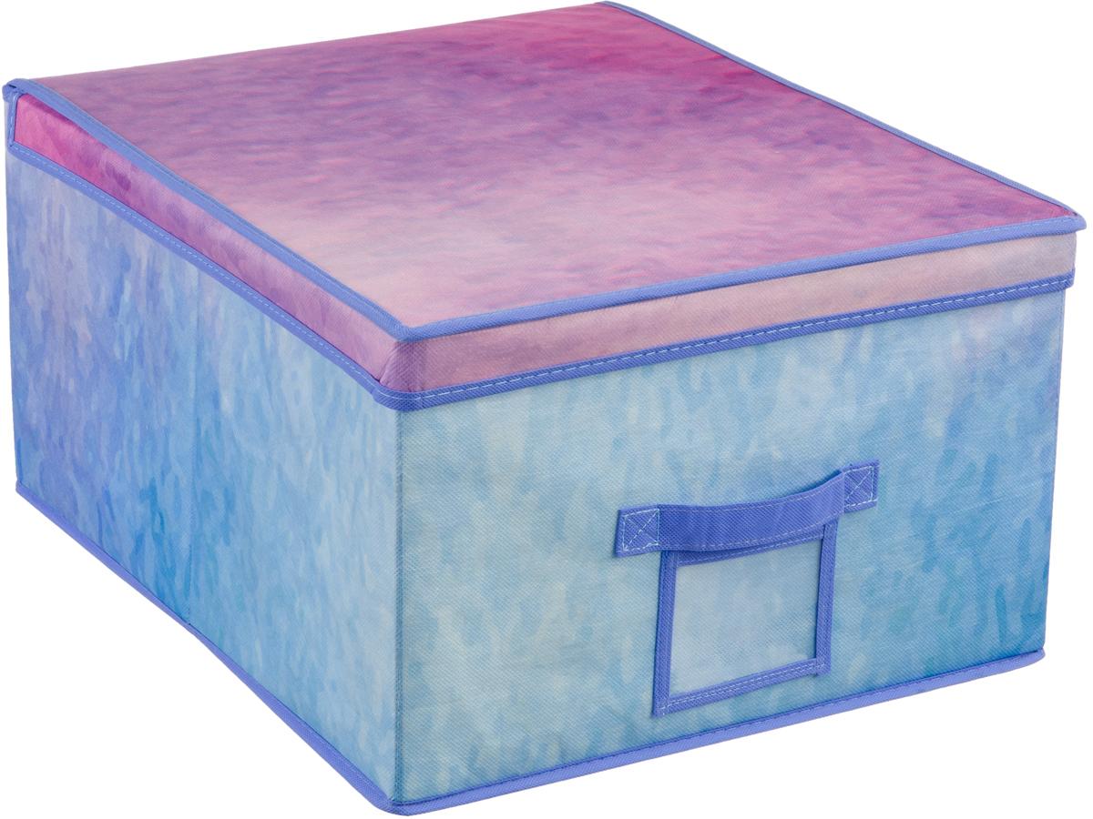 Короб для хранения Handy Home Акварель, цвет: синий, фиолетовый, 40 х 50 х 25 смUC-74Короб прямоугольный складной с крышкой. Занимает минимум места в сложенном виде. Естественная вентиляция: материал позволяет воздуху свободно проникать внутрь, не пропуская пыль. Подходит для хранения одежды, обуви, мелких предметов, документов и многого другого. Соберите всю коллекцию и наслаждайтесь аккуратностью и эстетикой своего гардероба.