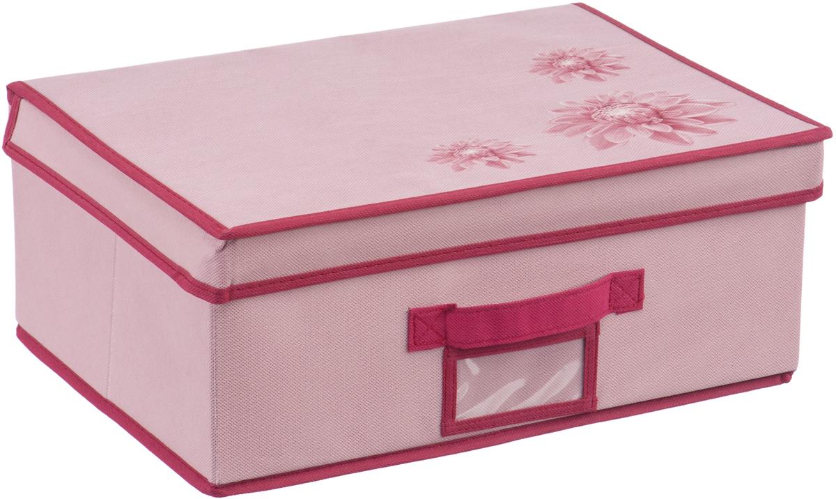 Кофр на липучке Handy Home Хризантема, цвет: бордовый, розовый, 40 х 30 х 16 смUC-80Кофр Хризантема станет не только удобным решением для хранения вещей, но и эстетическим элементом декора интерьера. Изделие выполнено из нетканого материала. Крышка кофра на липучке. Конструкция короба складная, поэтому в сложенном виде он занимает минимум места. Соберите всю коллекцию и наслаждайтесь аккуратностью и эстетикой своего гардероба.