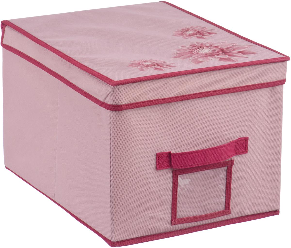 Короб для хранения Handy Home Хризантема, цвет: бордовый, розовый, 30 х 40 х 25 смUC-82Короб прямоугольный складной с крышкой. Занимает минимум места в сложенном виде. Естественная вентиляция: материал позволяет воздуху свободно проникать внутрь, не пропуская пыль. Подходит для хранения одежды, обуви, мелких предметов, документов и многого другого. Соберите всю коллекцию и наслаждайтесь аккуратностью и эстетикой своего гардероба.