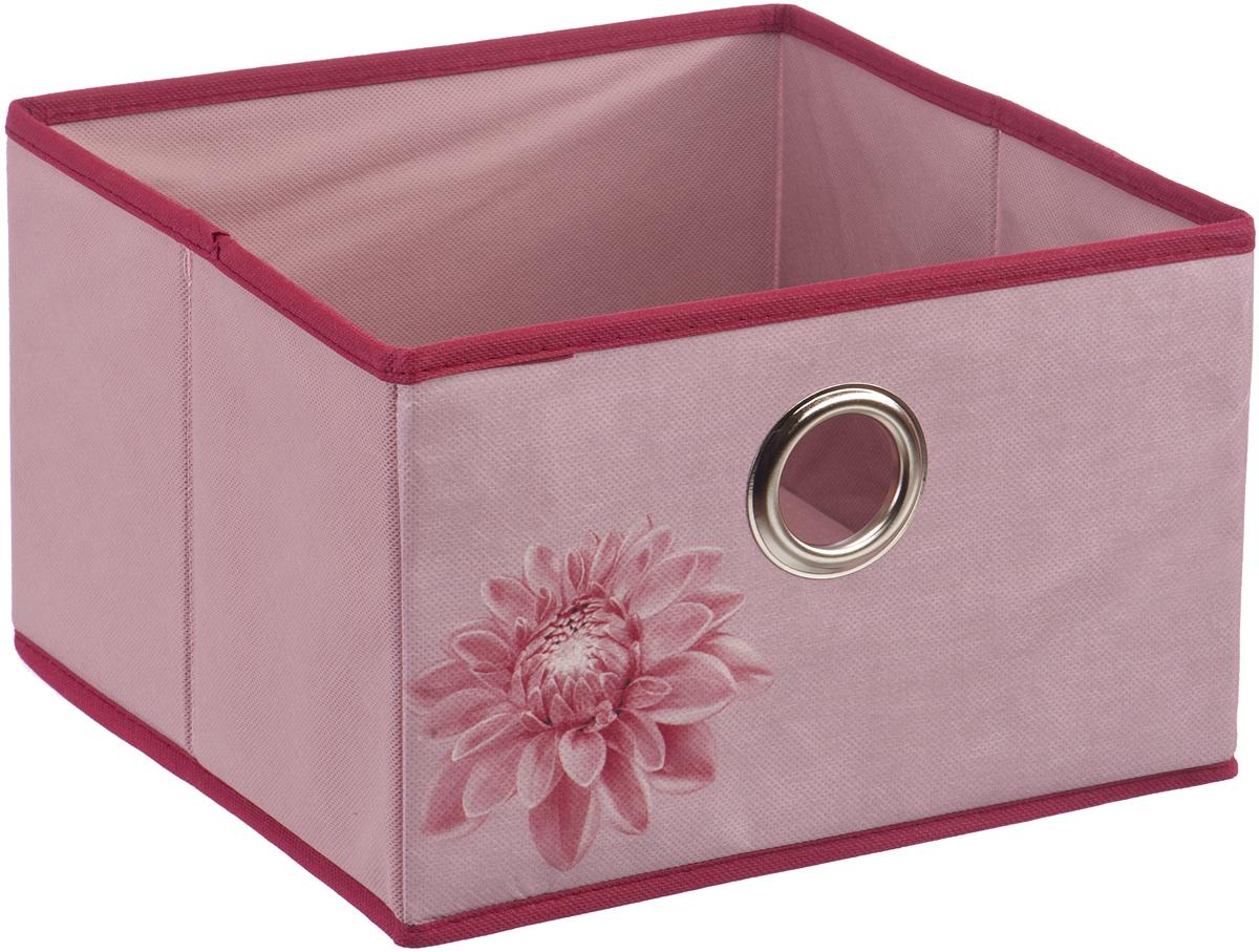 Короб для хранения Handy Home Хризантема, цвет: бордовый, розовый, 28 х 28 х 18 смUC-83Короб открытый квадратный складной. Занимает минимум места в сложенном виде. Подходит для хранения одежды, обуви, мелких предметов, документов и многого другого. Соберите всю коллекцию и наслаждайтесь аккуратностью и эстетикой своего гардероба. Соберите всю коллекцию и наслаждайтесь аккуратностью и эстетикой своего гардероба.