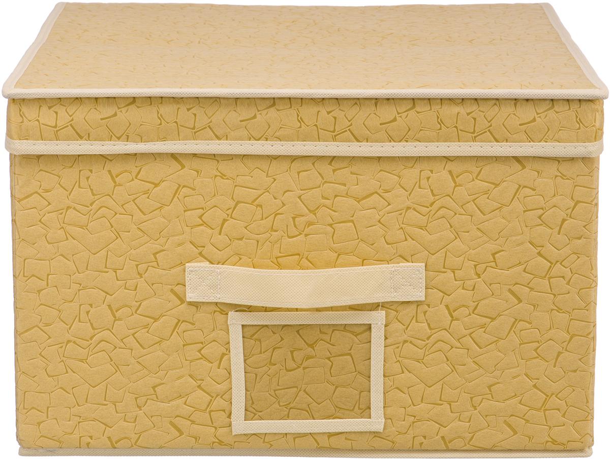 Короб для хранения Handy Home Геометрия, цвет: бежевый, 40 х 50 х 25 смUC-88Короб прямоугольный складной с крышкой. Занимает минимум места в сложенном виде. Естественная вентиляция: материал позволяет воздуху свободно проникать внутрь, не пропуская пыль. Подходит для хранения одежды, обуви, мелких предметов, документов и многого другого. Соберите всю коллекцию и наслаждайтесь аккуратностью и эстетикой своего гардероба.