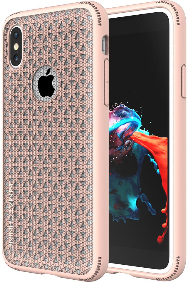 Matchnine Skel чехол для iPhone X, PinkENV027Чехол-накладка Matchnine Skel для Apple iPhone X обеспечивает надежную защиту корпуса смартфона от механических повреждений и надолго сохраняет его привлекательный внешний вид. Накладка выполнена из высококачественного поликарбоната, плотно прилегает и не скользит в руках.