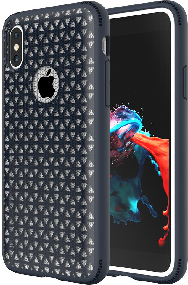 Matchnine Skel чехол для iPhone X, Navy BlueENV031Чехол-накладка Matchnine Skel для Apple iPhone X обеспечивает надежную защиту корпуса смартфона от механических повреждений и надолго сохраняет его привлекательный внешний вид. Накладка выполнена из высококачественного поликарбоната, плотно прилегает и не скользит в руках.