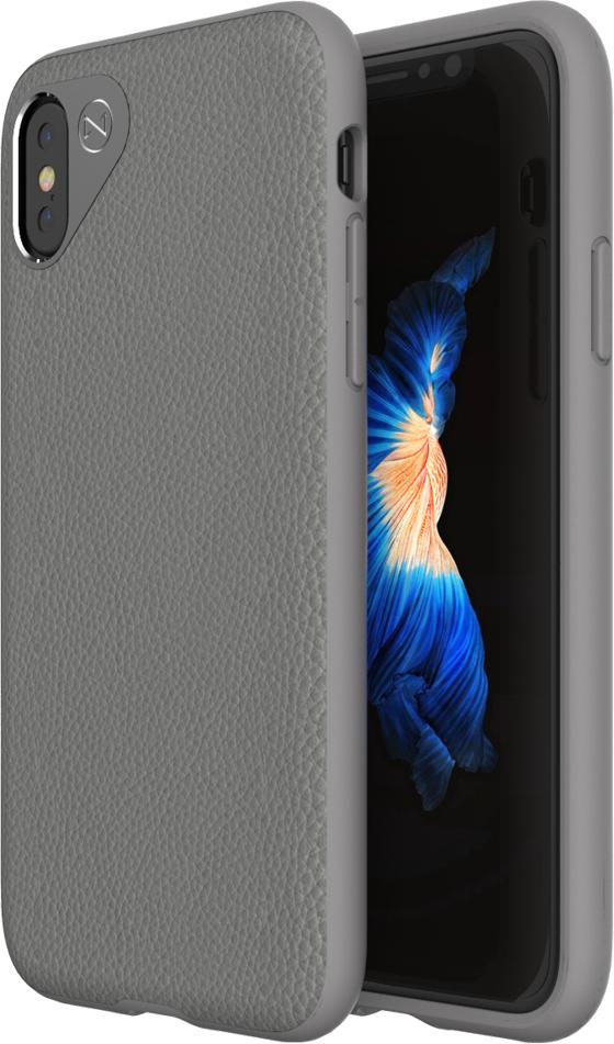 Matchnine Tailor чехол для iPhone X, Middle GrayENV037Чехол Matchnine Tailor - стильный аксессуар, обеспечивающий надежную защиту iPhone X от ударов и других воздействий. Его задняя панель изготовлена из жесткого поликарбоната, стилизованного под кожу, а бампер - из эластичного полиуретана. Кроме того, он украшен металлической накладкой, обрамляющей камеру.Мягкая рамка позволяет быстро надевать клип-кейс. Она слегка выступает над экраном, защищая его от контактов с твердыми поверхностями. Несмотря на отличные защитные свойства, чехол практически не увеличивает размеры устройства. С ним мобильный девайс можно носить в кармане или в специальном отделении сумки. Вырезы в клип-кейсе предоставляют доступ к важнейшим деталям смартфона, включая камеры, кнопки и разъемы.