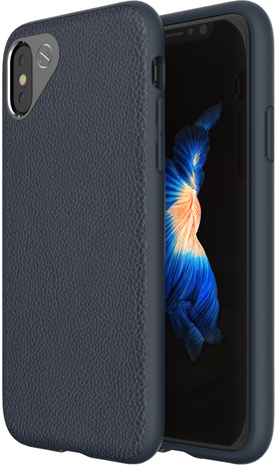 Matchnine Tailor чехол для iPhone X, Dark BlueENV038Чехол Matchnine Tailor - стильный аксессуар, обеспечивающий надежную защиту iPhone X от ударов и других воздействий. Его задняя панель изготовлена из жесткого поликарбоната, стилизованного под кожу, а бампер - из эластичного полиуретана. Кроме того, он украшен металлической накладкой, обрамляющей камеру.Мягкая рамка позволяет быстро надевать клип-кейс. Она слегка выступает над экраном, защищая его от контактов с твердыми поверхностями. Несмотря на отличные защитные свойства, чехол практически не увеличивает размеры устройства. С ним мобильный девайс можно носить в кармане или в специальном отделении сумки. Вырезы в клип-кейсе предоставляют доступ к важнейшим деталям смартфона, включая камеры, кнопки и разъемы.