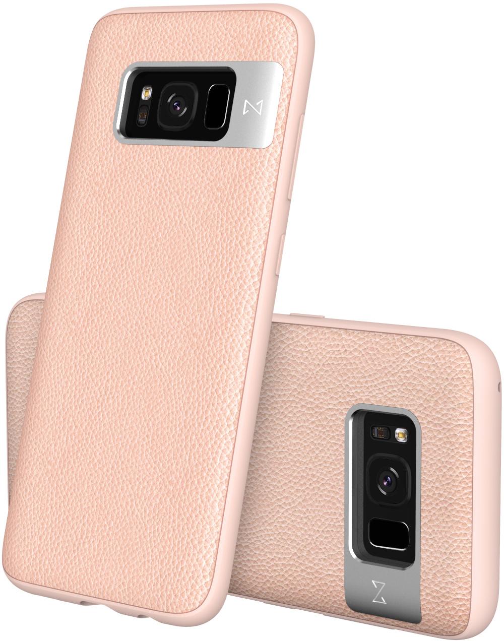 Matchnine Tailor чехол для Samsung Galaxy S8 Plus, Baby PinkENV051Чехол Matchnine Tailor - стильный аксессуар, обеспечивающий надежную защиту Samsung Galaxy S8 Plus от ударов и других воздействий. Его задняя панель изготовлена из жесткого поликарбоната, стилизованного под кожу, а бампер - из эластичного полиуретана. Кроме того, он украшен металлической накладкой, обрамляющей камеру.Мягкая рамка позволяет быстро надевать клип-кейс. Она слегка выступает над экраном, защищая его от контактов с твердыми поверхностями.Несмотря на отличные защитные свойства, чехол практически не увеличивает размеры устройства. С ним мобильный девайс можно носить в кармане или в специальном отделении сумки. Вырезы в клип-кейсе предоставляют доступ к важнейшим деталям смартфона, включая камеры, кнопки и разъемы.