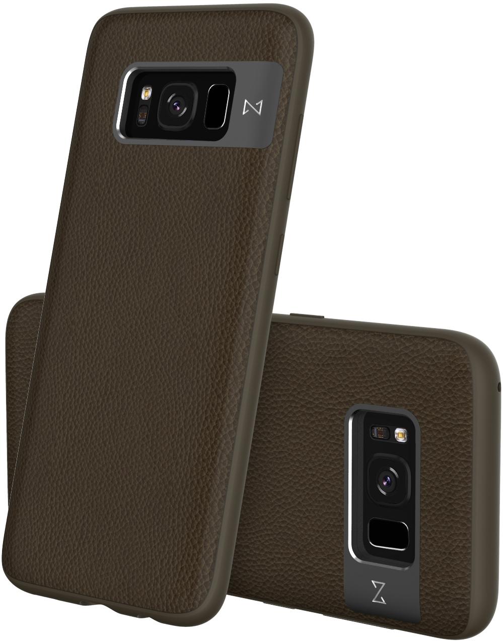 Matchnine Tailor чехол для Samsung Galaxy S8 Plus, Raw UmberENV057Чехол Matchnine Tailor - стильный аксессуар, обеспечивающий надежную защиту Samsung Galaxy S8 Plus от ударов и других воздействий. Его задняя панель изготовлена из жесткого поликарбоната, стилизованного под кожу, а бампер - из эластичного полиуретана. Кроме того, он украшен металлической накладкой, обрамляющей камеру.Мягкая рамка позволяет быстро надевать клип-кейс. Она слегка выступает над экраном, защищая его от контактов с твердыми поверхностями.Несмотря на отличные защитные свойства, чехол практически не увеличивает размеры устройства. С ним мобильный девайс можно носить в кармане или в специальном отделении сумки. Вырезы в клип-кейсе предоставляют доступ к важнейшим деталям смартфона, включая камеры, кнопки и разъемы.