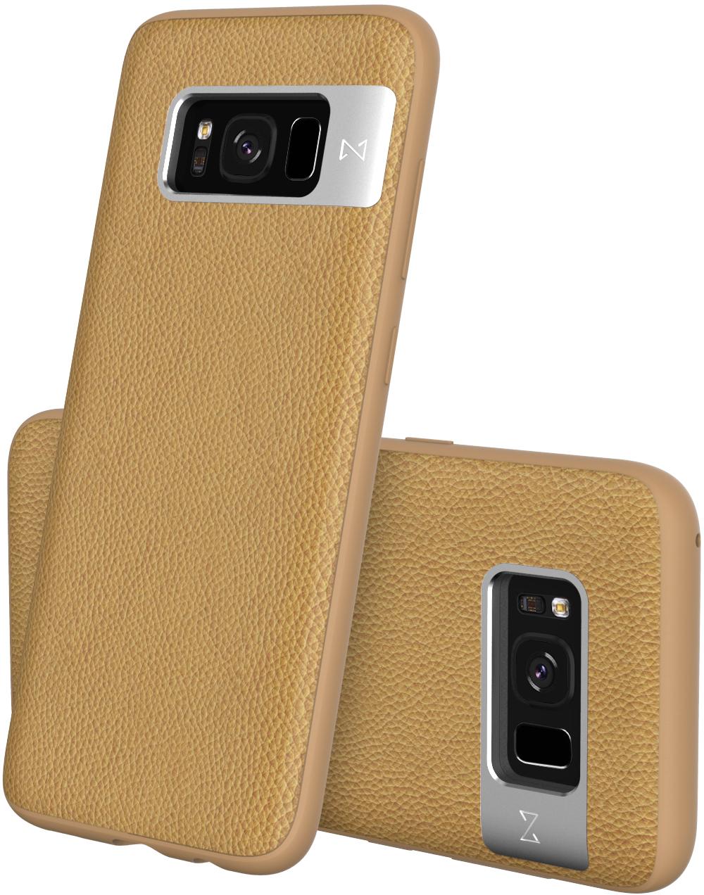 Matchnine Tailor чехол для Samsung Galaxy S8 Plus, Camel BrownENV058Чехол Matchnine Tailor - стильный аксессуар, обеспечивающий надежную защиту Samsung Galaxy S8 Plus от ударов и других воздействий. Его задняя панель изготовлена из жесткого поликарбоната, стилизованного под кожу, а бампер - из эластичного полиуретана. Кроме того, он украшен металлической накладкой, обрамляющей камеру.Мягкая рамка позволяет быстро надевать клип-кейс. Она слегка выступает над экраном, защищая его от контактов с твердыми поверхностями.Несмотря на отличные защитные свойства, чехол практически не увеличивает размеры устройства. С ним мобильный девайс можно носить в кармане или в специальном отделении сумки. Вырезы в клип-кейсе предоставляют доступ к важнейшим деталям смартфона, включая камеры, кнопки и разъемы.