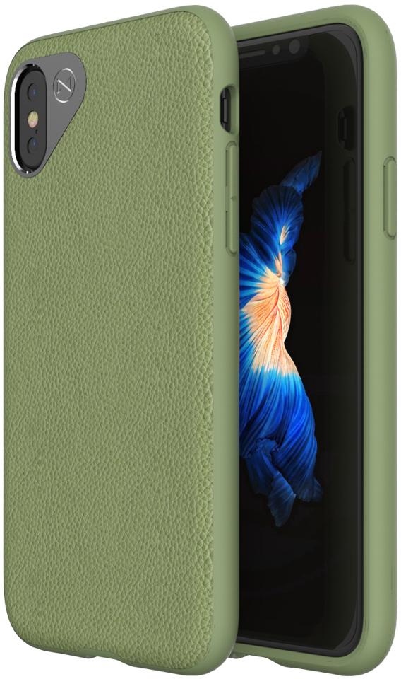 Matchnine Tailor чехол для iPhone X, Olive GreenENV041Чехол Matchnine Tailor - стильный аксессуар, обеспечивающий надежную защиту iPhone X от ударов и других воздействий. Его задняя панель изготовлена из жесткого поликарбоната, стилизованного под кожу, а бампер - из эластичного полиуретана. Кроме того, он украшен металлической накладкой, обрамляющей камеру.Мягкая рамка позволяет быстро надевать клип-кейс. Она слегка выступает над экраном, защищая его от контактов с твердыми поверхностями.Несмотря на отличные защитные свойства, чехол практически не увеличивает размеры устройства. С ним мобильный девайс можно носить в кармане или в специальном отделении сумки. Вырезы в клип-кейсе предоставляют доступ к важнейшим деталям смартфона, включая камеры, кнопки и разъемы.