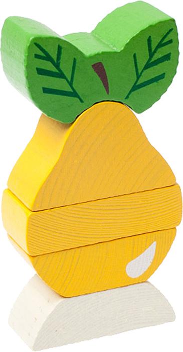 Томик Пирамидка Груша деревянные игрушки бомик клоун пирамидка 3