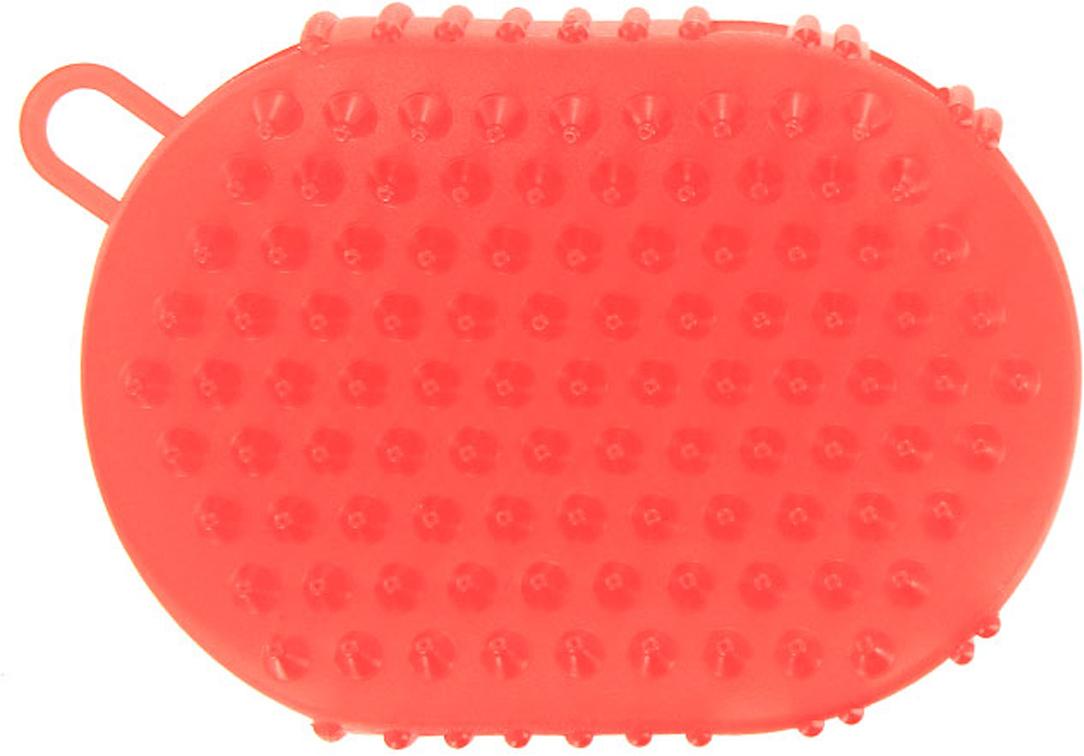 Массажер-варежка Дельтатерм Варюша, цвет: коралловый массажер дельтатерм чемпион