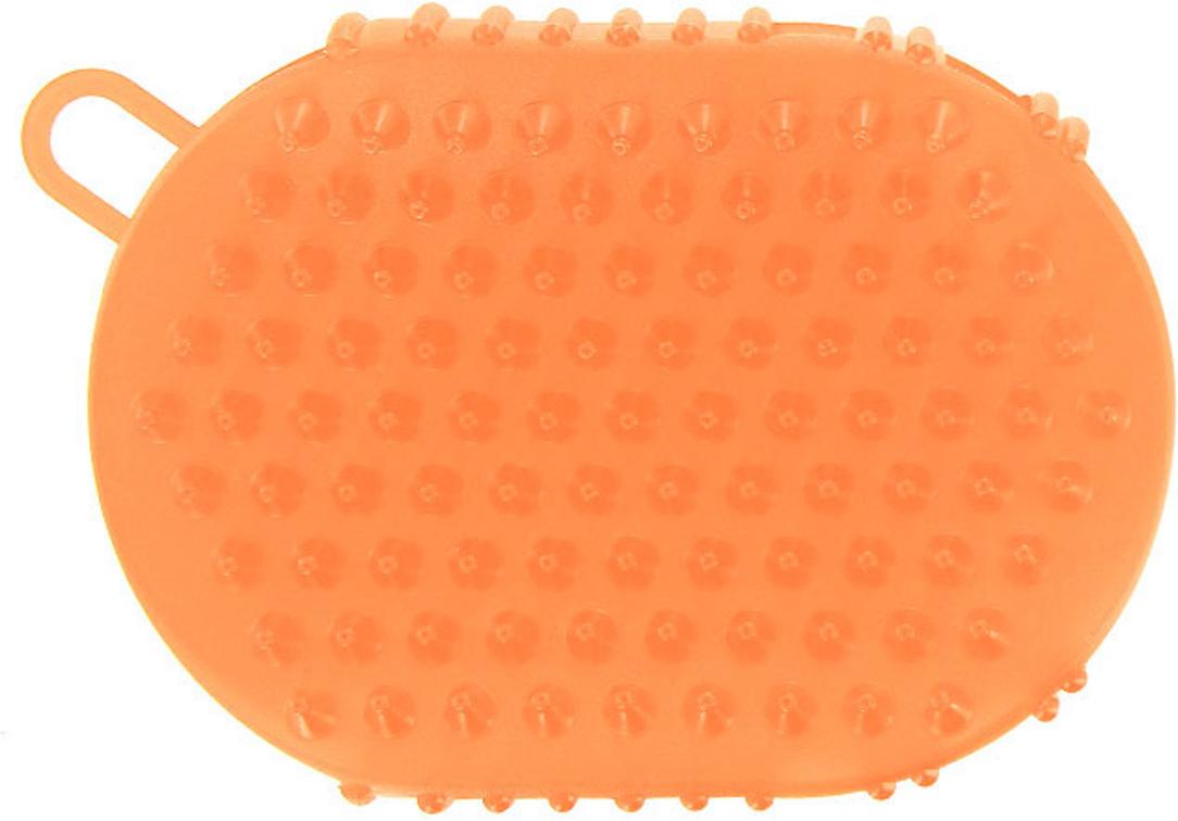 Массажер-варежка Дельтатерм Варюша, цвет: оранжевый очиститель массажер языка дельтатерм лингва lite цвет зеленый
