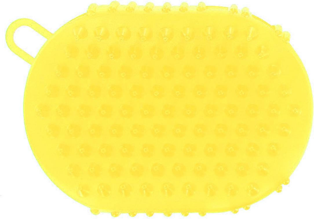 Массажер-варежка Дельтатерм Варюша, цвет: желтый массажер дельтатерм ежик с пружинкой цвет синий