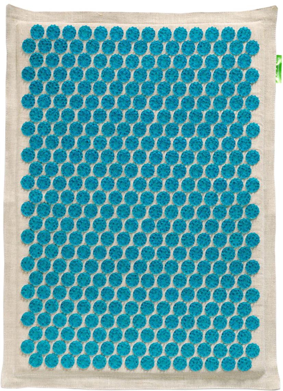Массажер-аппликатор Тибетский на мягкой подложке, для интенсивного воздействия, цвет: синий, 41х60 см00-00000657Массажер-аппликатор Тибетский на мягкой подложке, для интенсивного воздействия, цвет: синий, 41х60 см